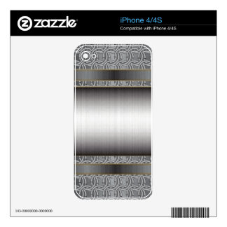 Medieval Chainmail with Brushed Steel phate iPhone 4S Skin