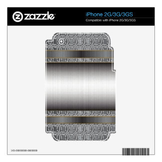 Medieval Chainmail with Brushed Steel phate iPhone 3G Decal