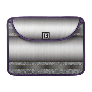 Medieval Chainmail with Brushed Steel plate. MacBook Pro Sleeves