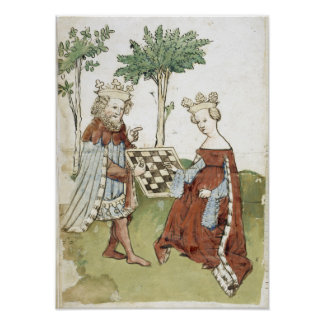 Medieval Chess Game Poster