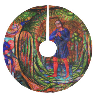 Medieval Choir Dragon Brushed Polyester Tree Skirt