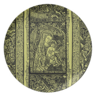Medieval Christmas Plate - Virgin Mary and Jesus