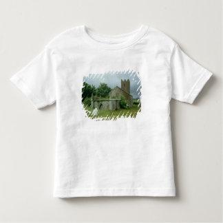 Medieval church and churchyard toddler t-shirt