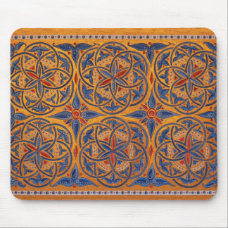 Medieval circles mouse pad