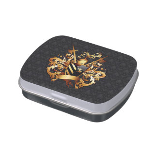 Medieval Coat of Arms Candy Tin