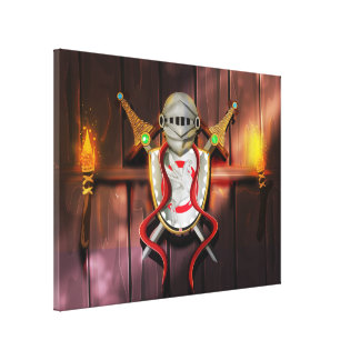 Medieval Coat of arms Canvas Print