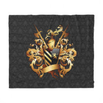 Medieval Coat of Arms Fleece Blanket