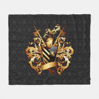 Medieval Coat of Arms Fleece Blanket