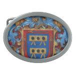 Medieval Coat of Arms Oval Belt Buckle