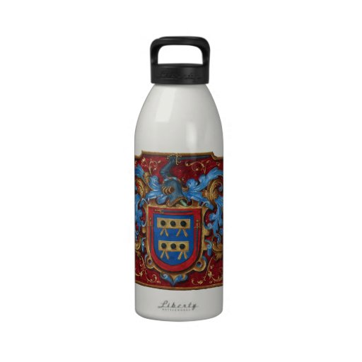 Medieval Coat of Arms Reusable Water Bottle