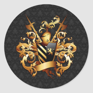 Medieval Coat of Arms Round Stickers