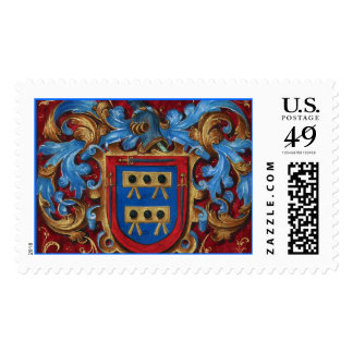Medieval Coat of Arms Stamp