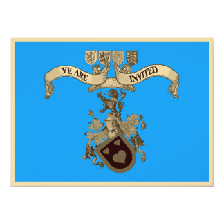 Medieval Coat Of Arms Wedding Invitations