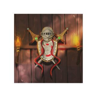 Medieval Coat of arms Wood Wall Decor
