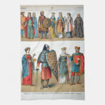 Medieval Costumes Hand Towel