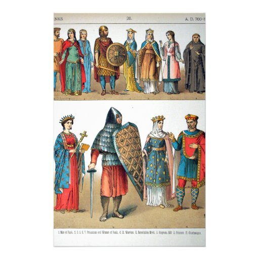 Medieval Costumes Stationery Paper