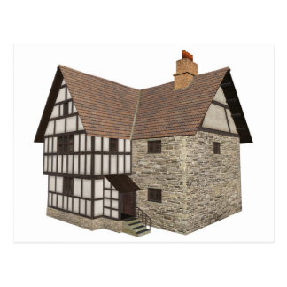 Medieval Country House - 1 Postcard