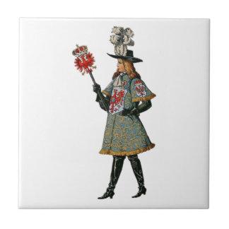 Medieval Courtier Ceramic Tile