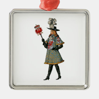 Medieval Courtier Metal Ornament