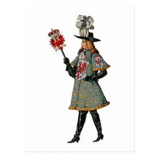 Medieval Courtier Postcard
