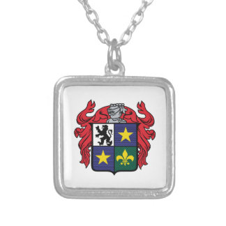 Medieval Crest Silver Plated Necklace
