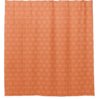 Coral Peach Shower Curtains Zazzle