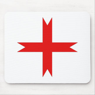 Medieval Cross of the Knights Templar Mouse Pad