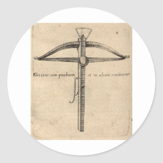 medieval-crossbow-8 classic round sticker