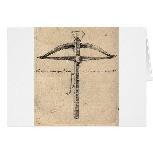 medieval-crossbow-8 tarjeta de felicitación