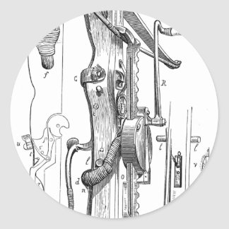 medieval-crossbow-9 classic round sticker