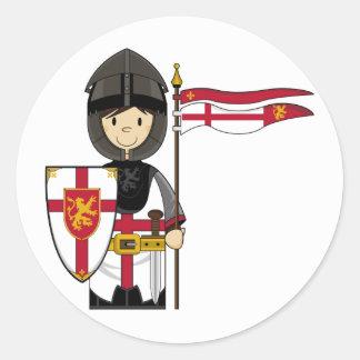 Medieval Crusader Knight Sticker