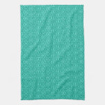 Medieval Damask Diamonds, turquoise and aqua Towels