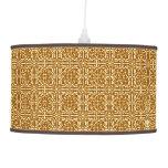 Medieval Damask Fleur-de-lis, copper and cream Lamps