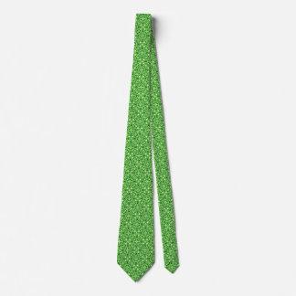 Medieval Damask pattern, dark pine green Tie
