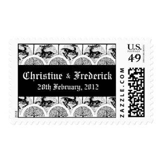 Medieval Deer and Trees, souvenir Postage Stamp