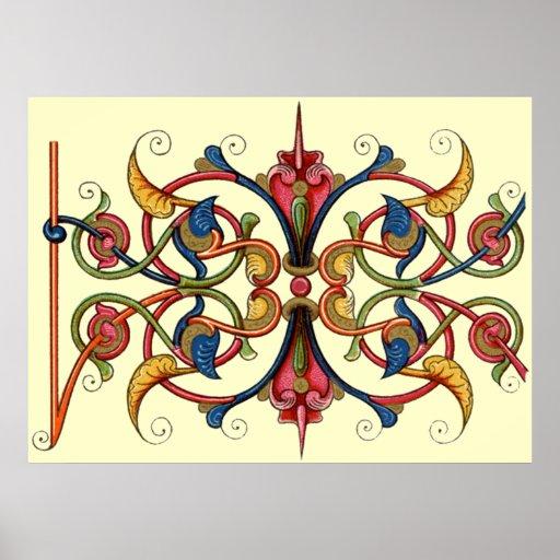 Medieval Design Posters