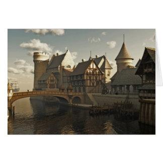 Medieval Docks Greeting Card