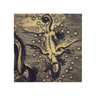 "Medieval Dragon 8""x8"" Wood Wall Art"