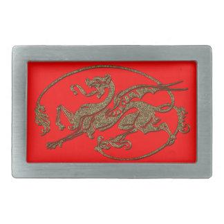Medieval Dragon Antique Art Designer Gift Rectangular Belt Buckles