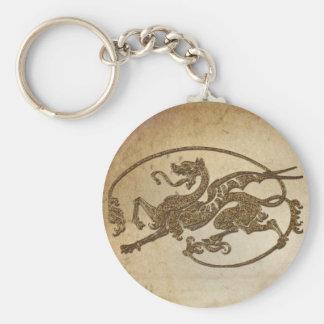 Medieval Dragon Antique Art Designer Gift Keychain