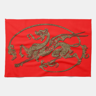 Medieval Dragon Antique Art Designer Gift Kitchen Towel