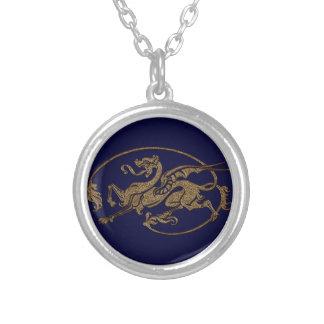 Medieval Dragon Antique Art Designer Gift Personalized Necklace