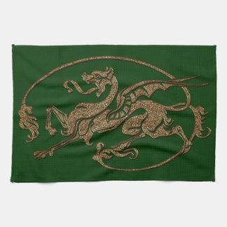 Medieval Dragon Antique Art Designer Gift Towel