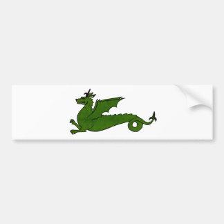 Medieval Dragon Bumper Sticker