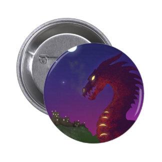 Medieval Dragon 2 Inch Round Button