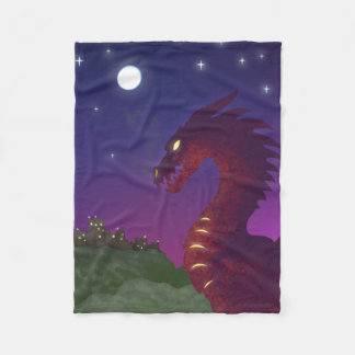 Medieval Dragon Fleece Blanket