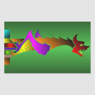 Medieval Dragon Gargoyle Sticker