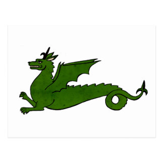 Medieval Dragon Postcard