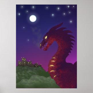 Medieval Dragon Poster