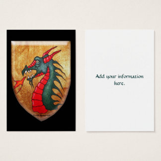 Medieval Dragon Shield Business Card